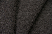 Diamond Pattern Jacquard Knitted fabric grey color ,good pattern good handing