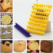 Fondant Cake Mold Cake Alphabet Letter Number Cookie Mold Biscuit Stamp Embosser Mold