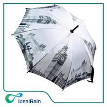 8k City rain umbrella picture print