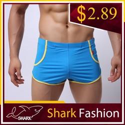 Shark Fashion sport wearing for man fancy blue nylon pant gym short shorts