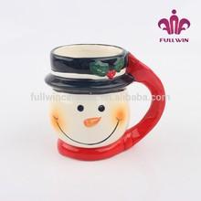 Christmas Xmas snowman mugs unique shape ceramic coffee mugs kids mugs with names custom design