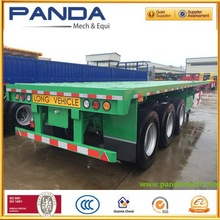Pandamech flat bed trls semi trailer 20ft container trailer for road transportation