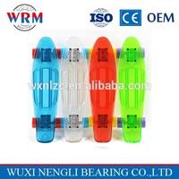 High performance low price transparent plastic longboard 22'' mini cruisers skateboard