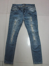 American Original order lady's fashionable worn-out jeans