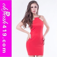 Hot selling red sexy mature party dress beautiful bandage bodycon dress
