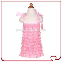 Fancy Bulk Blank Kids Girls Lace Ruffle T-shirt Plain Blank Baby T-shirts Wholesale