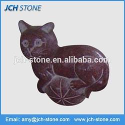 New design decorative china red granite cat