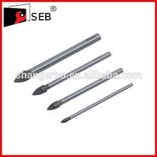 Sand Blast YG6X Tip Material Flat Tip Ceramic Drill Bit, Drill Bit For Ceramic