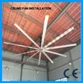 caliente la venta de gran flujo de aire grande fabricación de ventilador de techo industrial especificaciones