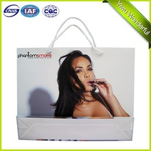 wholesale white cardboard shopping paper bag