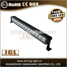 Emark professional standard 140w single row led light bar side mount led work light