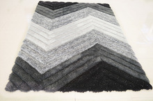 100% microfibre hand tufted Shaggy floor Carpets from China supplier
