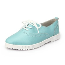 2015 High quality and low price girl flat leather shoes