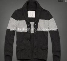 wholesale custom high quality varsity shawl collar mens cardigan sweater