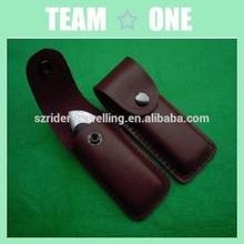 bainha de couro genuíno para a faca de bolso de dobramento pequena faca lock
