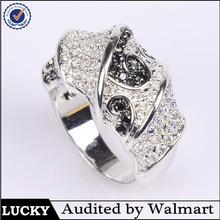 Wholesale alibaba silver zircon mens expandable wedding ring