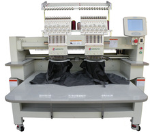 Made in China 2 heads 9 needles computerized embroidery machine for flat bed, cap, finishsed garments