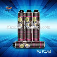 Eco-friendly Aerosol 500ml polyurethane foam components for sealing joints