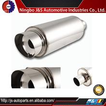 Inlet stainless steel exhaust resonator muffler exhaust pipe cap for generator set