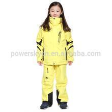 Fashion warm waterproof ski wear snow suit kids