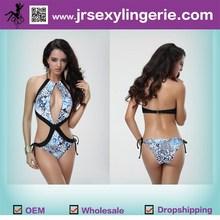2015 new style Waves Printed Bandeau & Hipster retro sexy bikini sexy bikinis unique design swimwear and beachwear