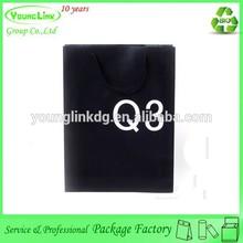 China supplier custom glossy shopping handle paper bag