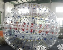 Wholesale Outdoor Attractive Promotional Football Inflatable Body Zorb Ball