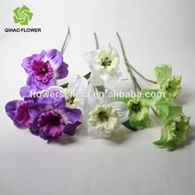 China artificial flower manufacture silk flower wholesale silk daffodil