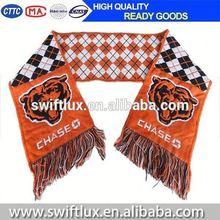 printed fabric handmade soccer scarf
