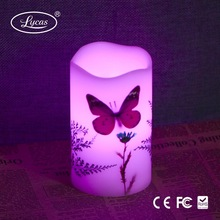 Home decoration flameless scented yankee LED wax candle with timer