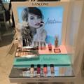 Nova 2015 alta- final personalizado acrílico cosméticos exibição de imagem, cremalheira de exposição cosmética