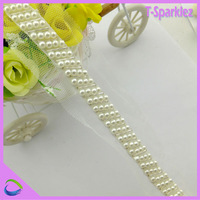 China Wholesale Corded Lace Trims with Pearl