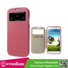 High Quality Wow Bumper View Smart Leather Cover w/ Card Slot for Samsung Galaxy S4 I9500