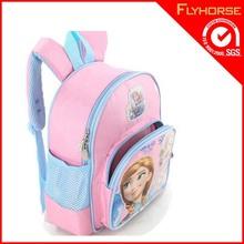 2015 hot selling Fashion rucksack kids trolley school frozen elsa bag