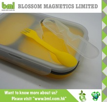 BPA free Collapsible Silicone Lunch Container