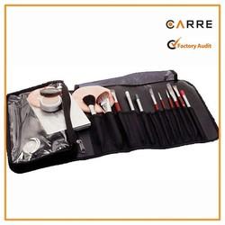 nylon professional makeup artist tools organizer cosmetic make up brush bag