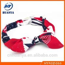 Messy bow headwraps weet honey headband ladies hair bands America flag headband