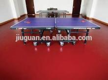 good quality low price antislip indoor red grid grain table tennis pvc sports flooring