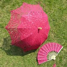 Victorian Cotton With Fan Wedding Souvenir Umbrella
