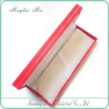 Custom fashion cheap red paper colour beautiful design pen & wallet box