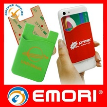 2015 Hot promotional low cost fashion cute portable self-adhesive mobile accessory wallet