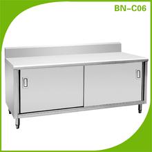 CosBao BN-C06 stainless steel cabinet kitchen with sliding door