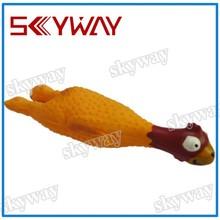 15*3.5*4CM little chicken rubber dog toys
