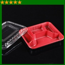 Disposable PP plastic take-away food container box with clear lid
