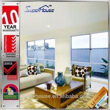 Hot sale Australian type double frosted glass aluminum profile sliding windows