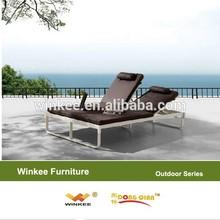 outdoor plastic rattan pool bed slumber bed sun Loungers