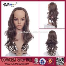 2014 Unique design kinky curl half wig