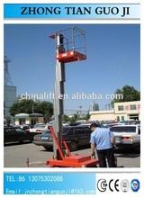 one post 2-6m lift table/hydraulic aluminium lift platform/ hydraulic lift