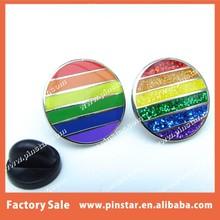 Hot Sale LGBT Movement Cufflinks Tie Pin Gift Gay Pride Rainbow Flag Enamel Lapel Pin Badge