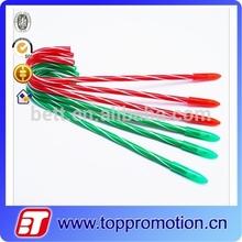 Plastic Candy Cane Pen